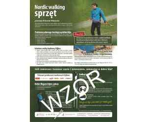 "Plakat A3 ""Nordic walking sprzęt"""