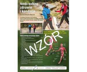 """Plakat A3 """"Nordic walking zdrowie i kondycja"""""""