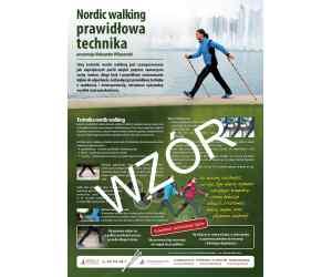 """Plakat A3 """"Nordic walking prawidłowa technika"""""""