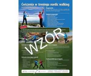 "Plakat A3 ""Ćwiczenia w treningu nordic walking"""