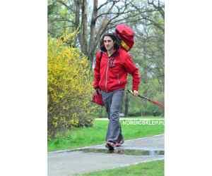 Pokrowiec na kijki LEKI Trainer Red na 15 par kijów