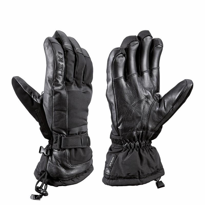 Czarne rękawice narciarskie Leki Detect S