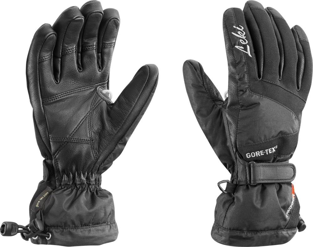 Czarne damskie rękawice narciarskie Leki Scale GTX Lady