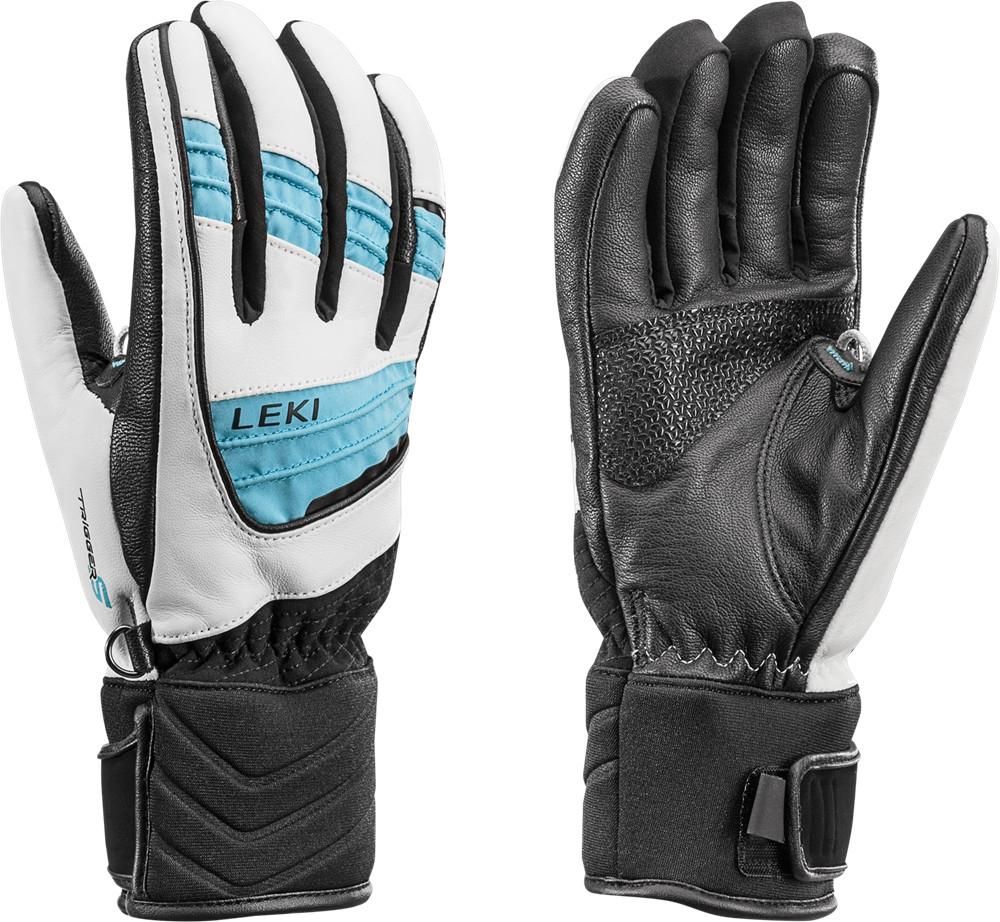 Niebiesko białe rękawice narciarskie leki Griffin Lady