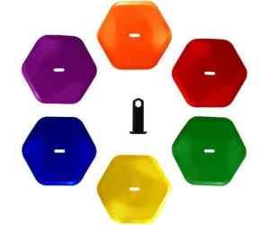 Pro's Pro Znaczniki Hexagon Kolorowe 6szt.