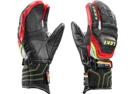 Rękawice narciarskie LEKI WCR Flex S Junior Lobster red