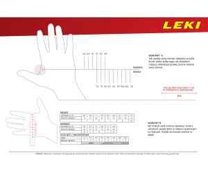 Rękawiczki nordic walking Leki Master Long