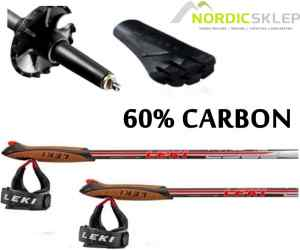Kije nordic walking Leki Amero 60% Carbon