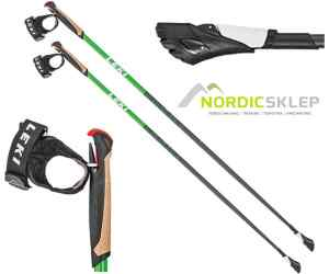 Kije nordic walking Leki Smart Carat green
