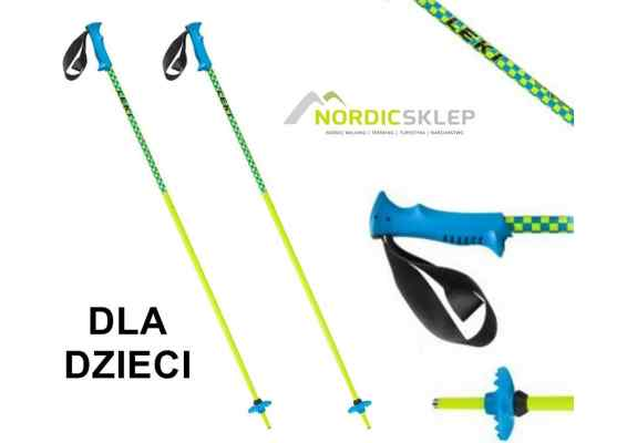Kije narciarski Leki Checker X Junior neon-yellow