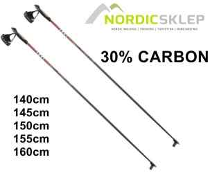 Kije biegowe Leki CC 2.6 Carbon RedYellow