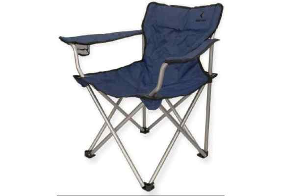 Krzesło King Camp z podłokietnikami granatowe