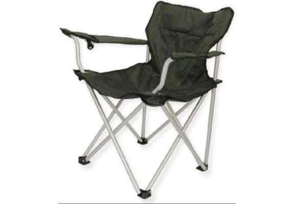 Krzesło King Camp z podłokietnikami zielone