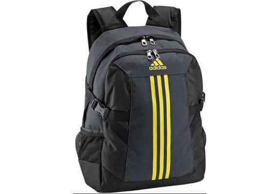 Plecak ADIDAS BP Power II M granat, żółte logo, z komorą na laptop G71017