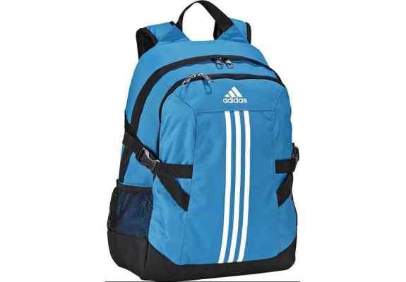 Plecak Adidas BP POWER II F49837 niebiesko-czarny, białe logo, z komorą na laptop