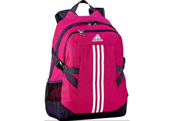842b8fb9dcb86 Plecak Adidas BP POWER II F49838 różowo-czarny, białe logo, z komorą na  laptop