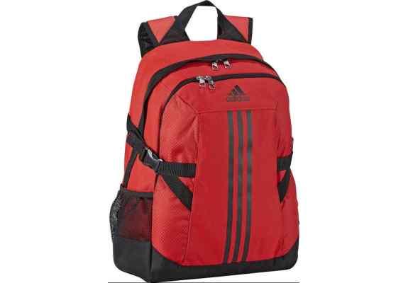 Plecak Adidas BP POWER II F49836 czerwony, czarne logo, z komorą na laptop ...
