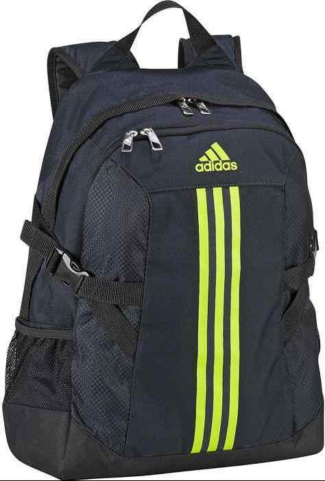 renomowana strona Kod kuponu wyprzedaż w sprzedaży Plecak Adidas BP POWER II F49839 granatowy, żólte logo, z komorą na laptop  ...