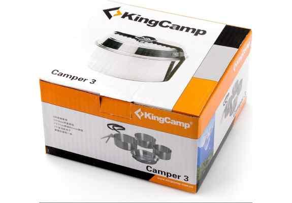 NACZYNIA KEMPINGOWE CAMPER 3 KING CAMP KP3902