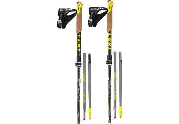 Nordic Walking LEKI Micro Trail Vario yellow 115-130cm