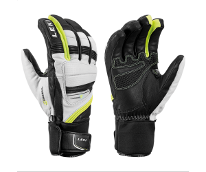 Rękawice LEKI Griffin Prime S white-black-yellow