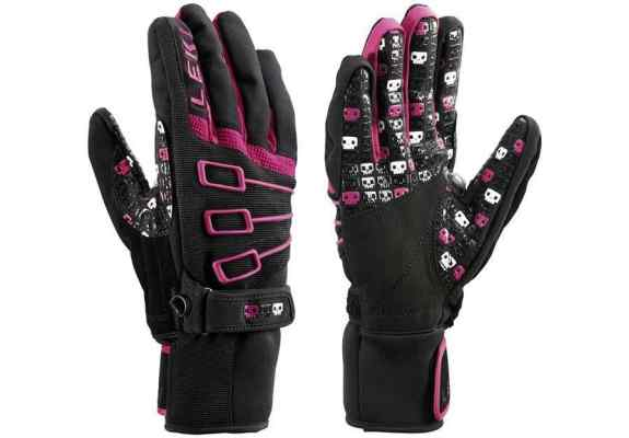 Rękawice narciarskie damskie Leki Invader S Pink 8.5