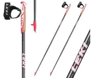 Kije do nordic walking Leki Flash Carbon Black 70%