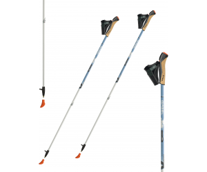 Gabel X-5 Carbon 85% White-Blue - lekkie kije do nordic walkingu.