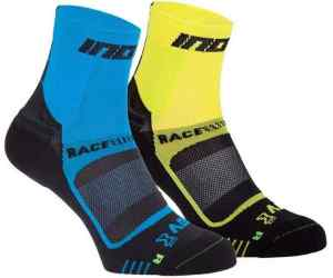 Skarpety inov-8 Race Elite Pro Sock. Niebiesko-żóto-czarne. Dwupak.