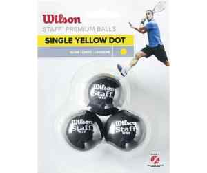 Piłki Wilson Single Yellow Dot 3szt.