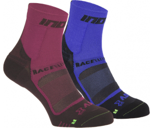 Skarpety inov-8 Race Elite Pro Sock. Fioletowo-czerwono-czarne. Dwupak.