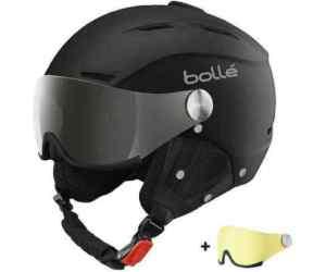 Kask Narciarski Bolle Backline Visor Soft Black & Silver with 1 Silver Gun Visor & 1 Lemon Visor