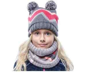 BUFF® Czapka Dziecięca Zimowa Buff Child Knitted & Fleece Hat Arild GREY